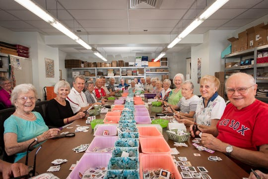 For 46 years, Shell Point volunteers have gathered, sorted, clipped and placed untold numbers of canceled stamps into plastic bins.