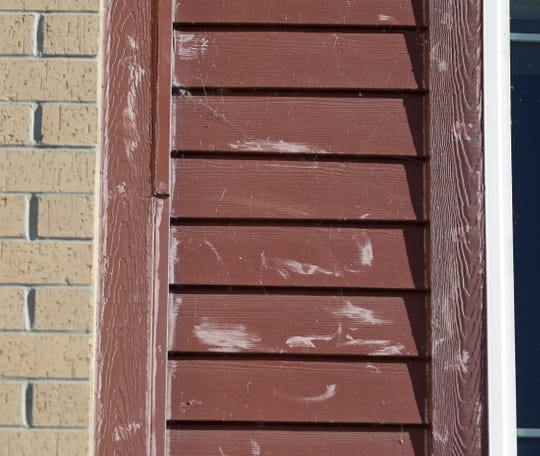 Discoloration of siding panels is visible on the CityDeck Landing apartment building, 401 N. Washington St., in downtown Green Bay.