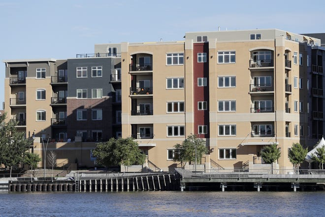 The CityDeck Landing apartment building, 401 N. Washington St. in downtown Green Bay, is the subject of a $2.5 million dispute stemming from its construction in 2014 and 2015.
