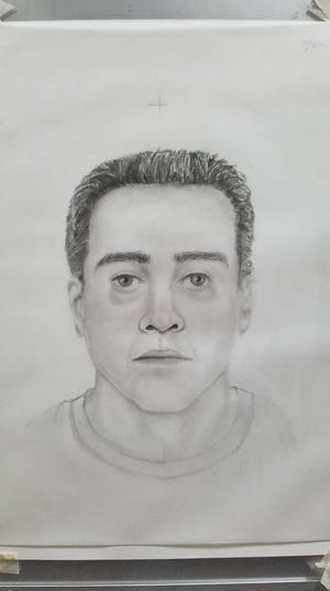 The police sketch of the suspect believed to be involved in a Sept. 14 assault near St. Norbert College in De Pere.