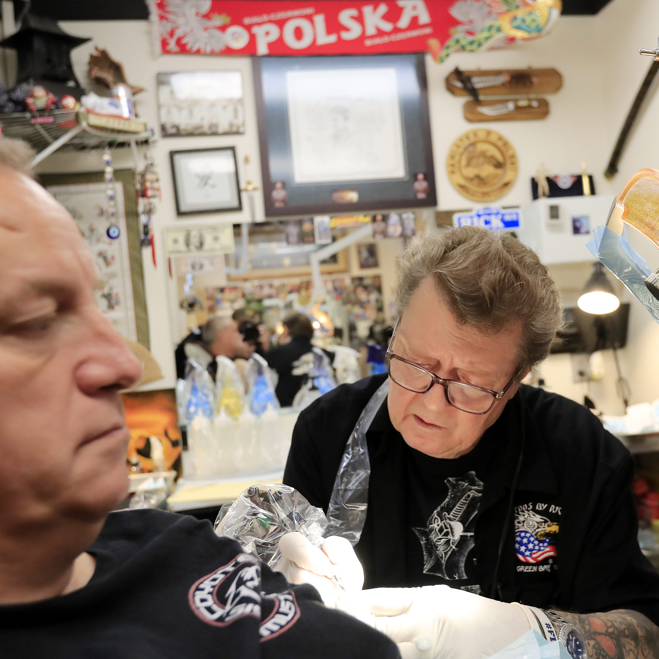 From Packers players to doctors, Rick Harnowski has been tattooing for 50 years