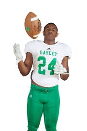 A photo of C.J. Fuller used for his senior banner at Easley High School.