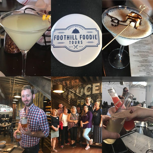Foothill Foodie Tours currently offers four unique tours designed to take people on a variety of culinary experiences in Greenville.