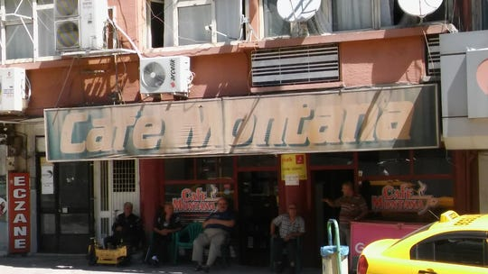 Sam Sweeney spotted the Cafe Montana  in Gaziantep, Turkey during his studies and work in the Middle East.