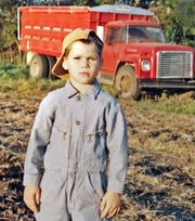 A young Jack Kiser on the family farm.