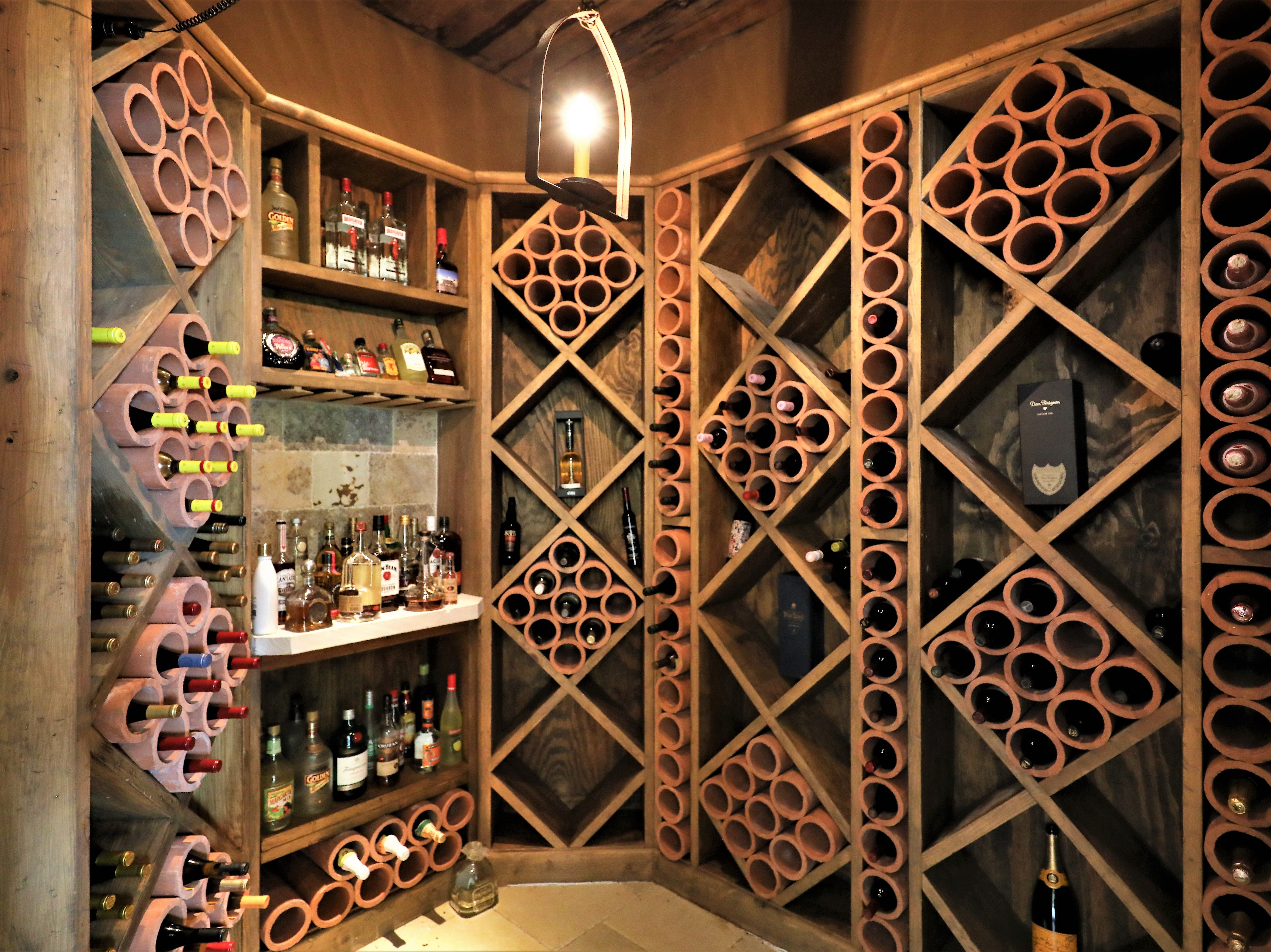 There's also a wine cellar in the finished basement.