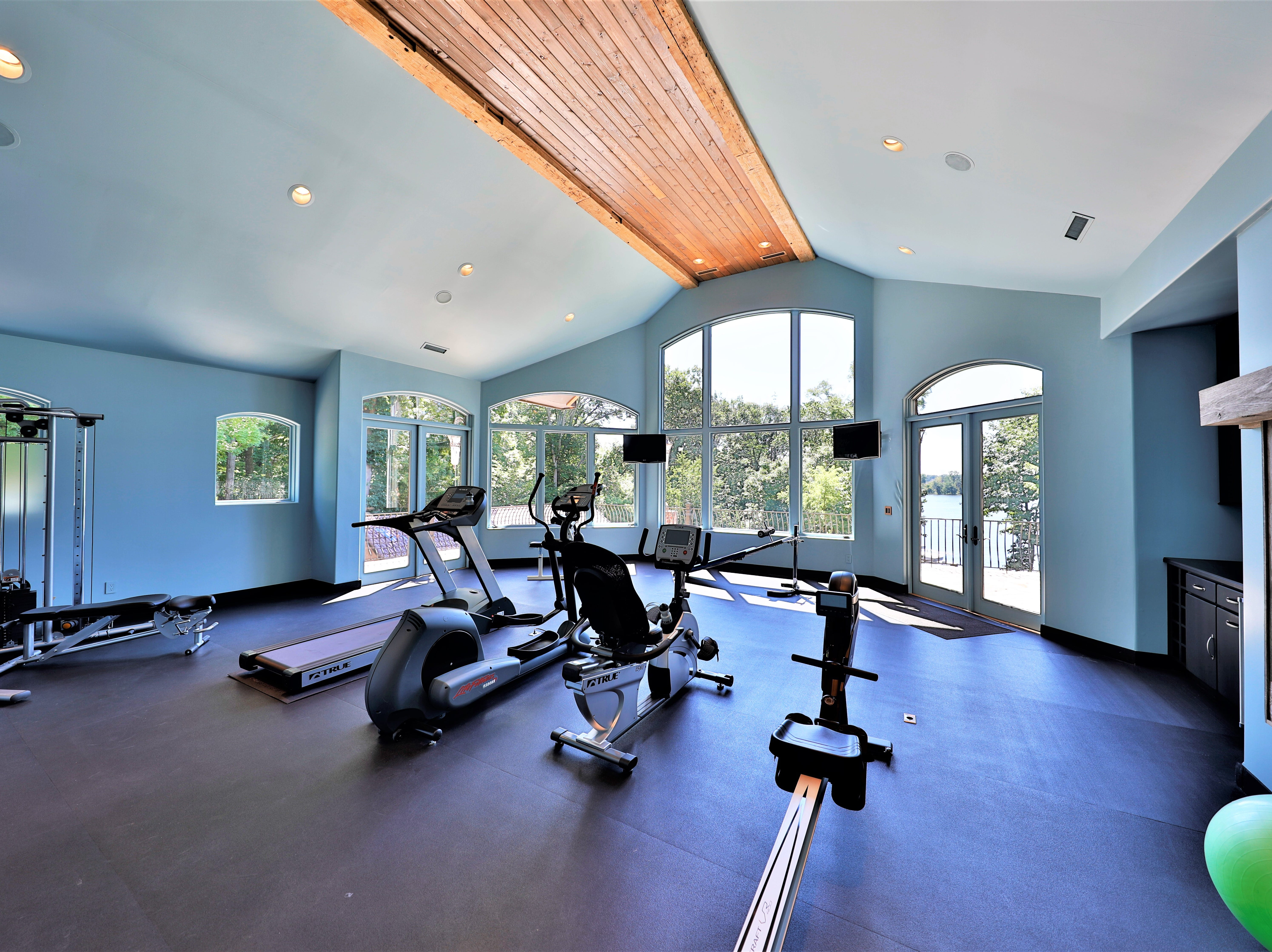 A workout room on the second floor.
