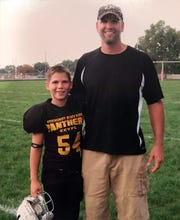 Jack with his dad, Aaron Kiser.