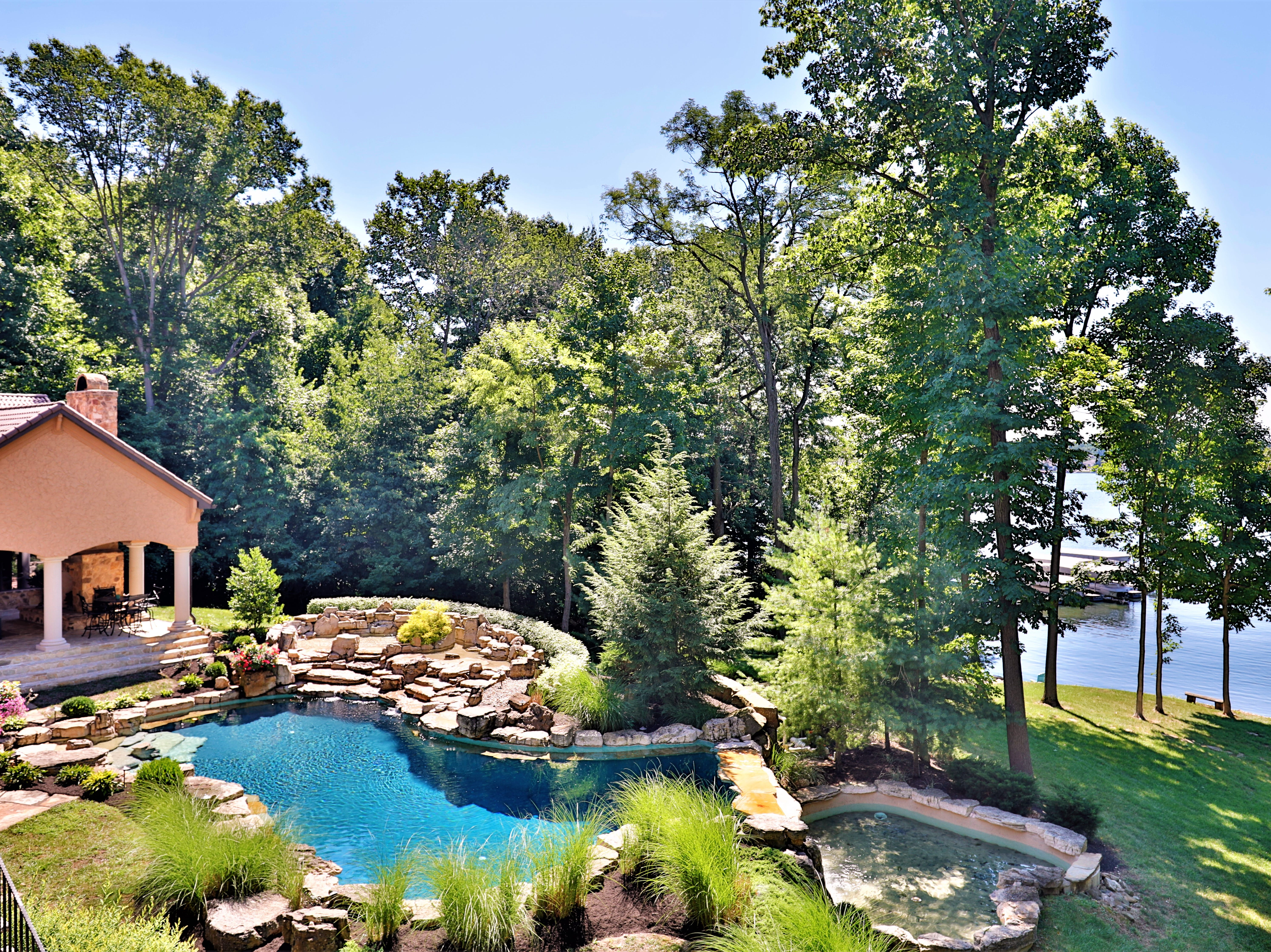 The estate in Fishers sits on 7.4 acres.