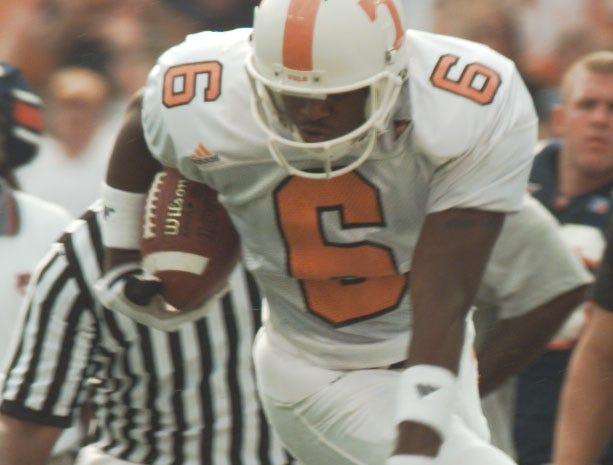 UT's Jeremaine Copeland flys over Auburn's Rob Pate Saturday in Auburn, AL in 1998.