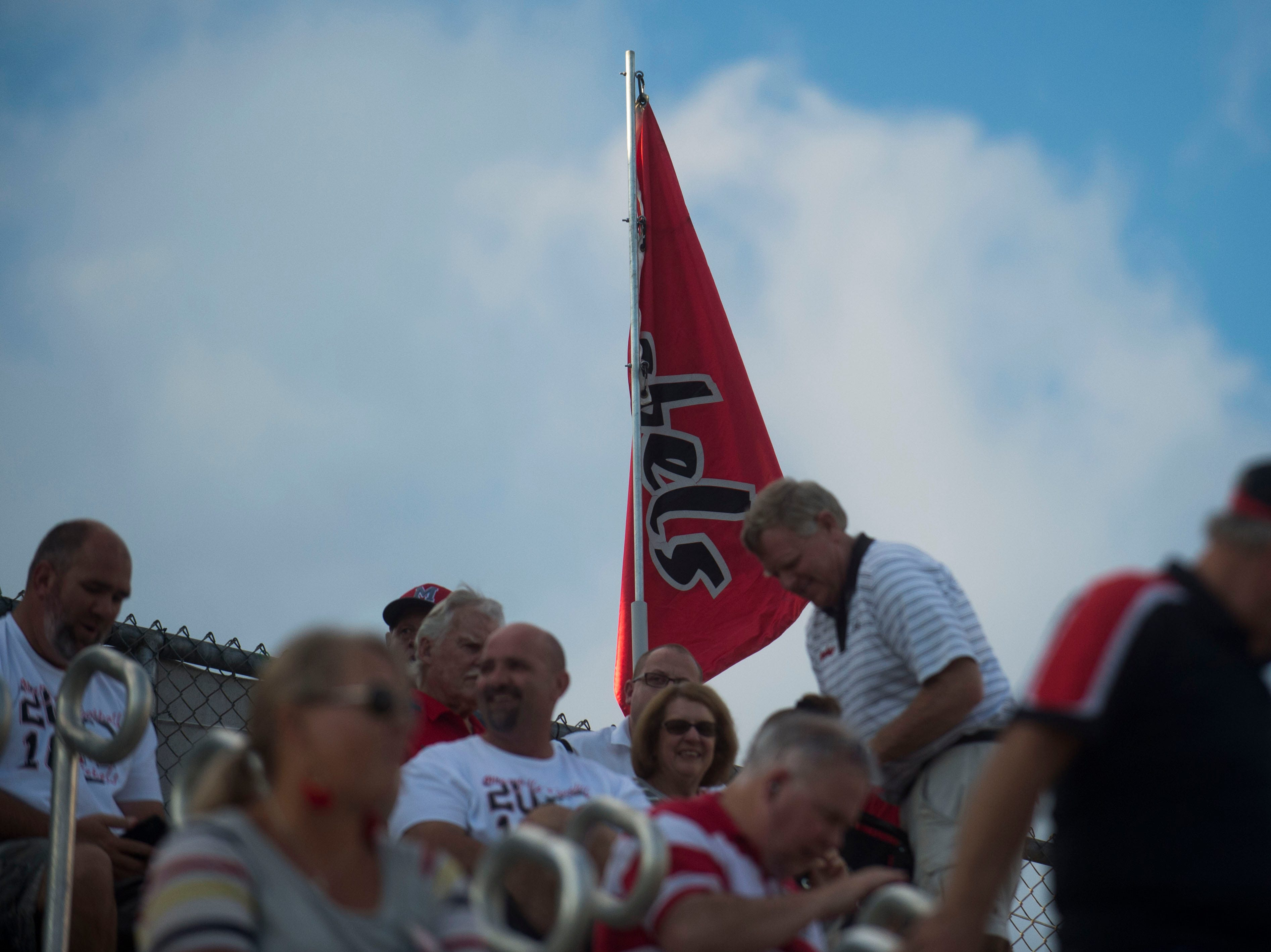Maryville fans get situated in the stands before a game between Cleveland and Maryville at Maryville Thursday, Oct. 4, 2018.