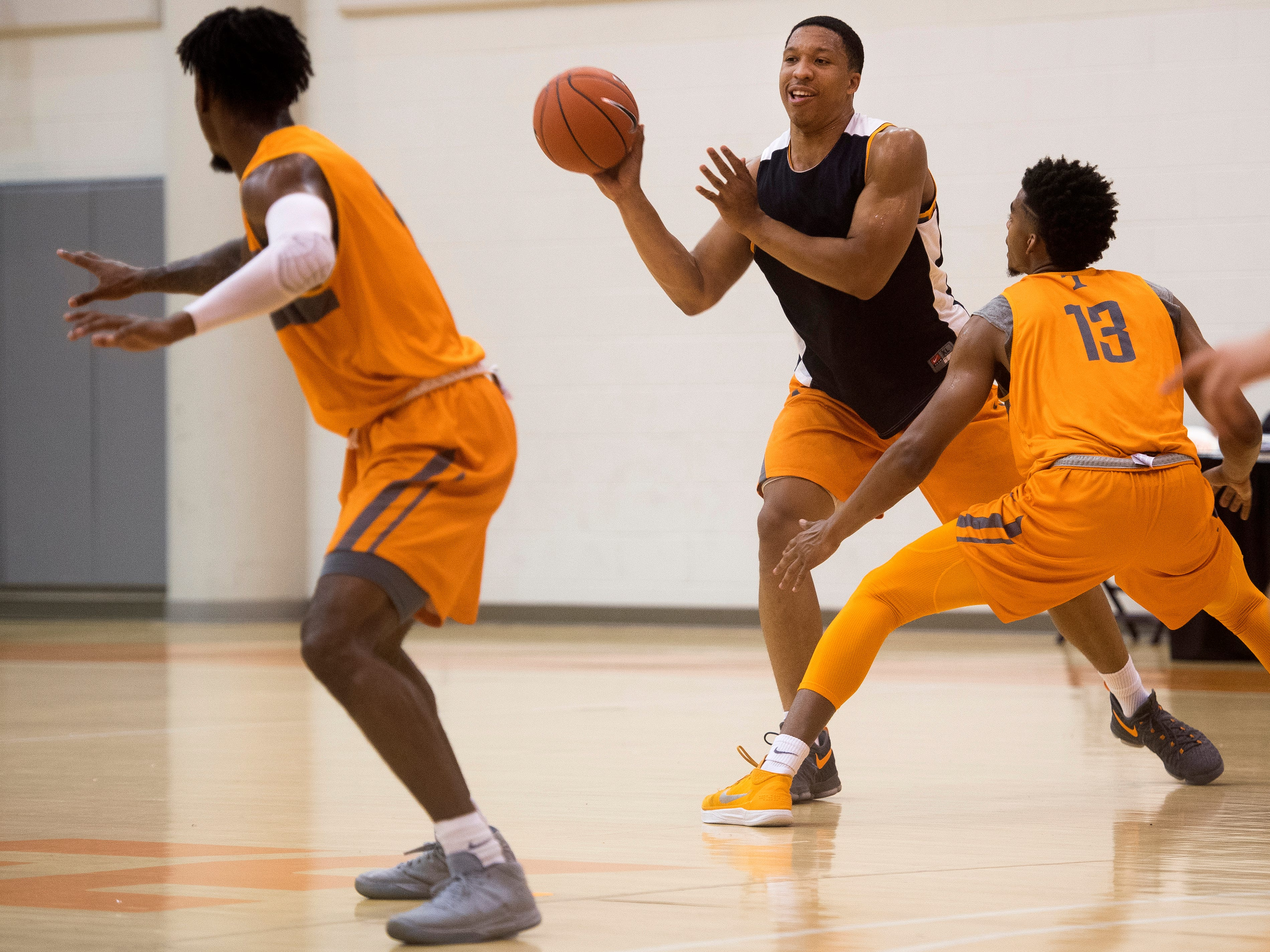 Tennessee forward Grant Williams (2) during basketball practice at Pratt Pavilion on the University of Tennessee's campus on Thursday, October 4, 2018.