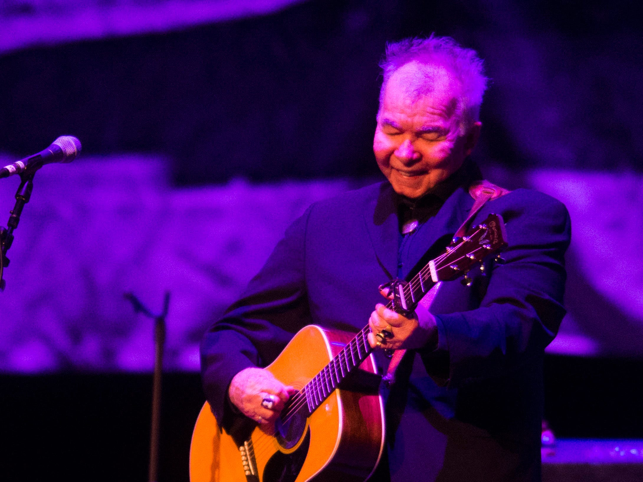 John Prine performs at the Tennessee Theatre Wednesday, Oct. 3, 2018.