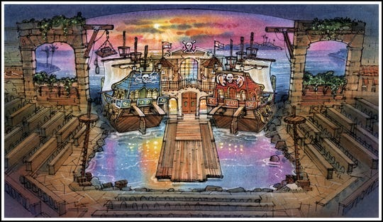 This rendering showcases the upcoming Pirates Voyage location in Pigeon Forge.