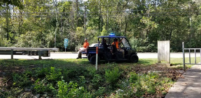 On Thursday, members of the Knoxville Police Department's Search and Rescue Team scour the Ten Mile Greenway, where Werner Stierle was attacked on Sept. 29.