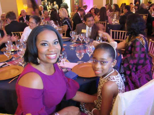 Master of Ceremonies, WATE's Tearsa Smith, brought nine year old daughter Kherington Bonds along for the festivities.