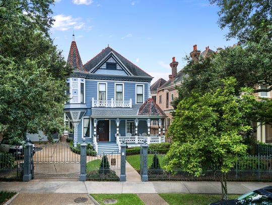 The estate sits on St. Charles Ave. in the most prestigious part of uptown New Orleans.