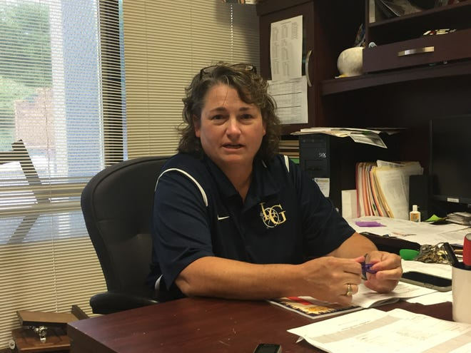 Lancaster High School athletic director Pam Bosser is now in her ninth year and the first female to hold the position at the school.