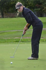 Sydney Bradford shot 82 to tie for 12th, leading Hartland to a fourth-place finish in the KLAA golf tournament at Salem Hills Golf Club on Thursday, Oct. 4, 2018.
