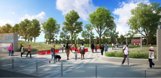 A concept rendering of Fort-On-Shore at Waterfront Park.