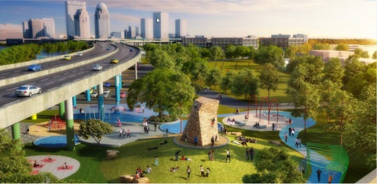 A concept rendering of the Exerscape at Waterfront Park.