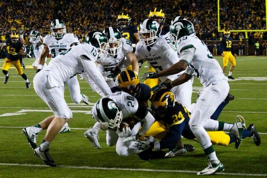 Ncaa Football Michigan State At Michigan