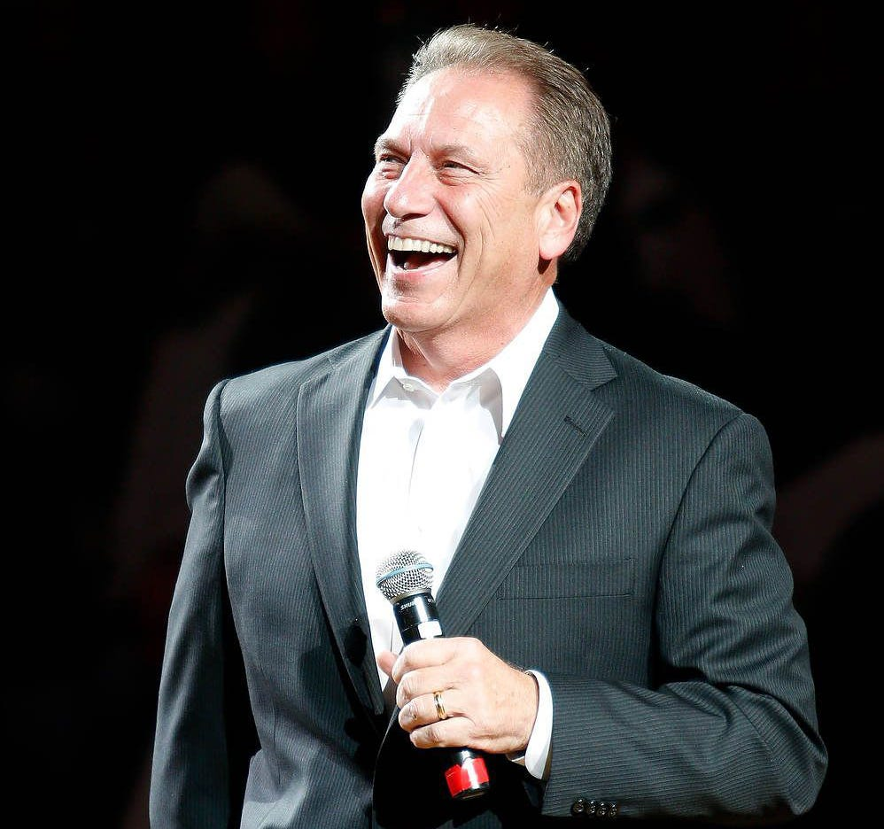"""Tom Izzo dresses with a """"Mission Impossible"""" theme."""
