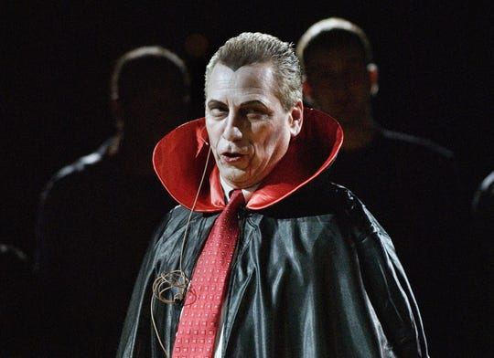 Midnight Madness at the Breslin Center Friday, October 13, 2006 included many costumed basketball players and coach Tom Izzo as Dracula.