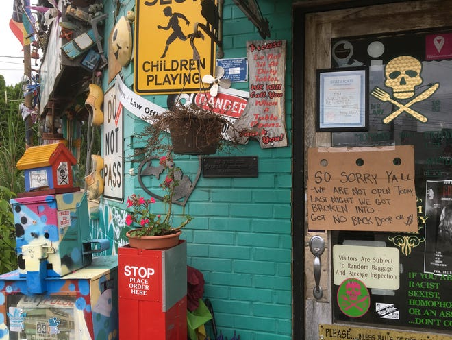 Signage on the door of the Golden Harvest restaurant in Old Town, closed, Thursday, Oct. 4, 2018, due to an overnight break-in.  Owner Vanessa Vicknair said an undisclosed amount of cash was taken, and the place was ransacked.