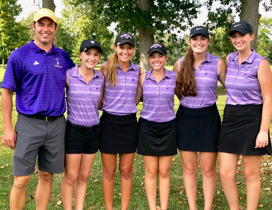 Mike Kathrein's Lexington girls took runner-up honors in the Division I sectional golf tournament at Sycamore Springs.