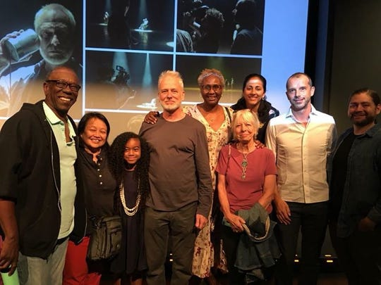 """Filmmaker Matteo Servente (second from right) with the actors and team behind the short film for the """"Open Up. Spark A Conversation"""" initiative announced on Oct. 4, 2018 at the National Civil Rights Museum."""