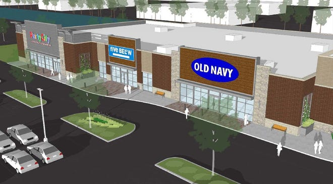 Five Below, Old Navy and Party City will be in a new building at The Corridor mixed-use development in Brookfield. The stores are to open this fall.