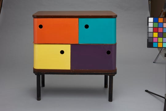 "The ""Serious Play"" exhibition at the Milwaukee Art Museum includes examples of furniture for children's rooms."
