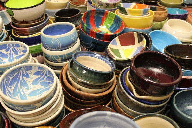 More than 2,000 bowls made by artists, teachers and children will be sold at the annual Milwaukee Empty Bowls event, 11 a.m. to 2 p.m. Oct. 14 at MSOE's Kern Center, 1245 N. Broadway.