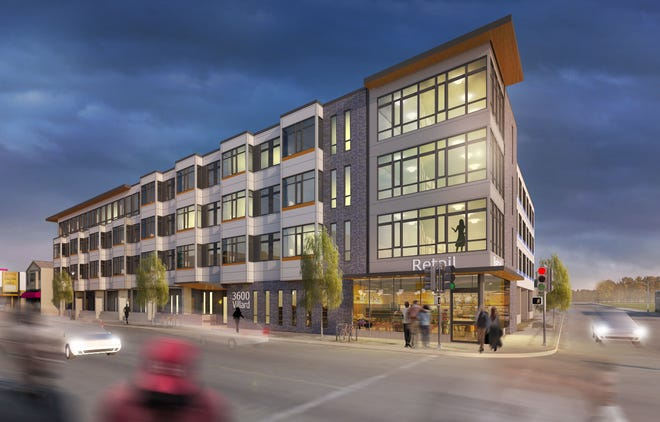 An affordable apartment development coming to the 3600 block of West Villard Avenue will include a Rise and Grind cafe in its street-level commercial space.