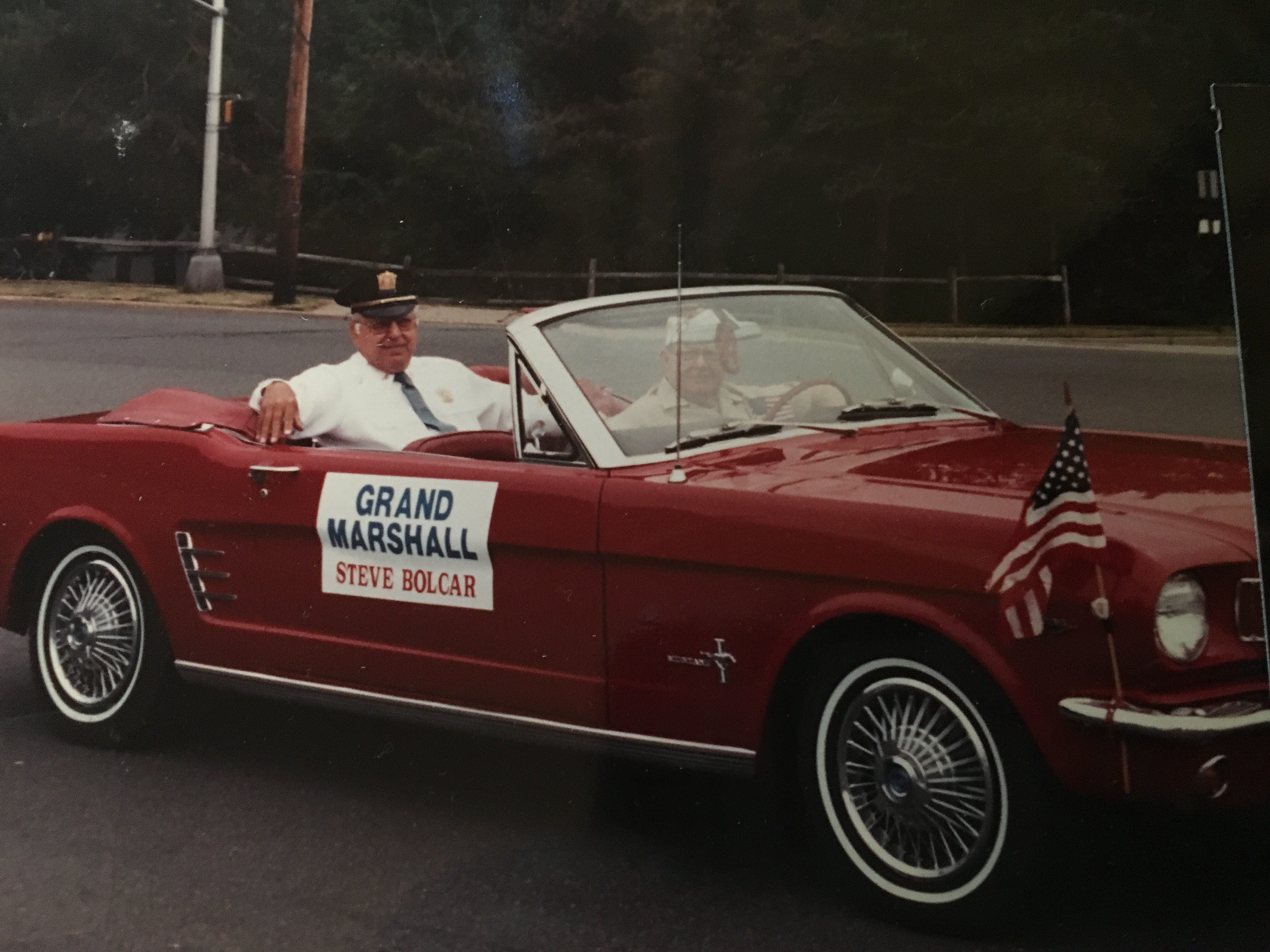 Steve Bolcar family photos: grand marshal of the Memorial Day parade, 1993.
