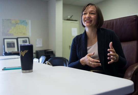 Tabitha Isner, candidate for U.S. Rep. for Alabama District 2, sits down for an interview with the Advertiser at her campaign office in Montgomery, Ala., on Thursday, Oct. 4, 2018.