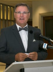 Murfreesboro City Councilman  Eddie Smotherman speaks after his swearing in ceremony.