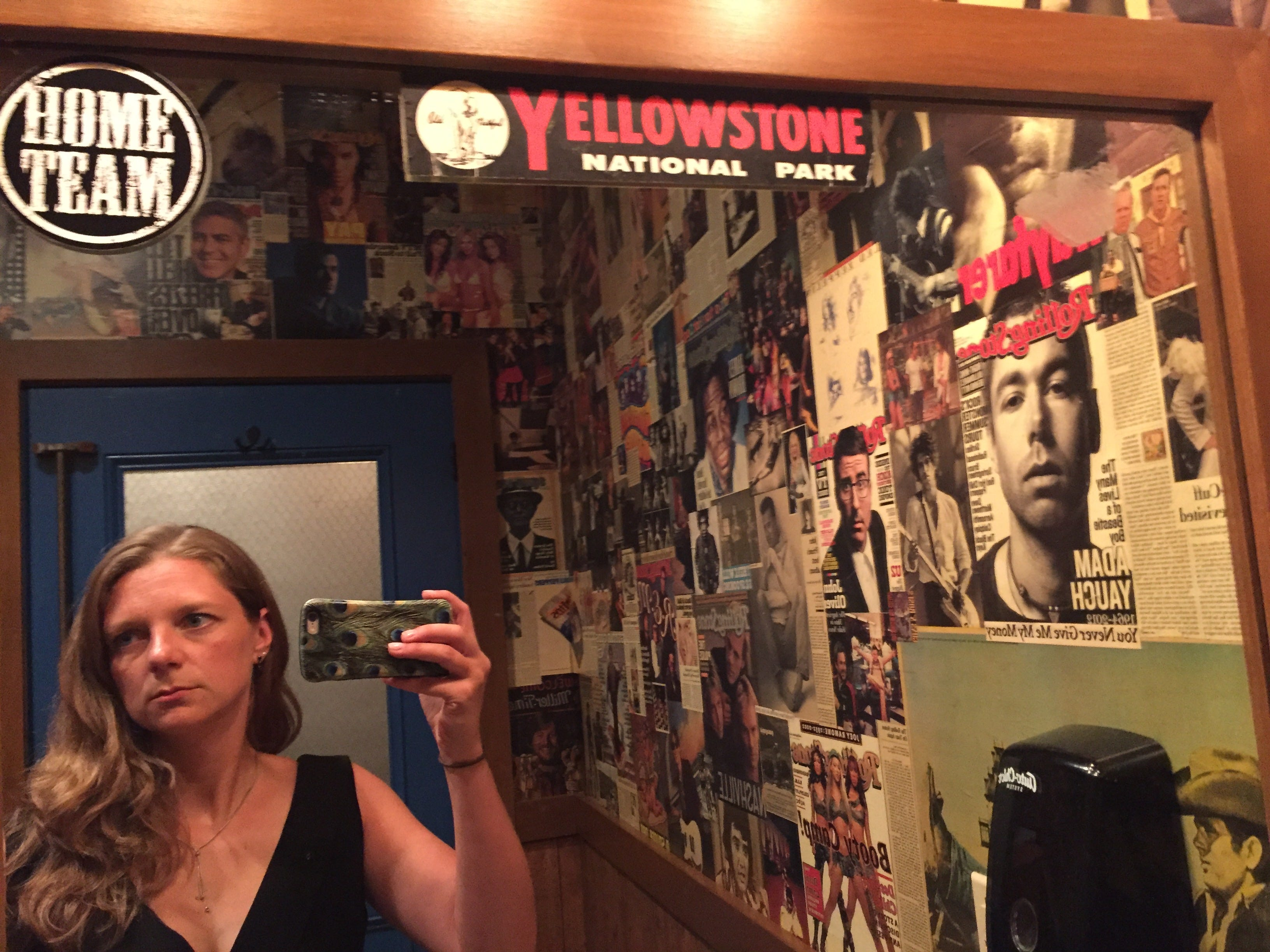 Tennessean storytelling columnist Jessica Bliss in the ladies room at HiFi Clyde's sports bar on Church Street