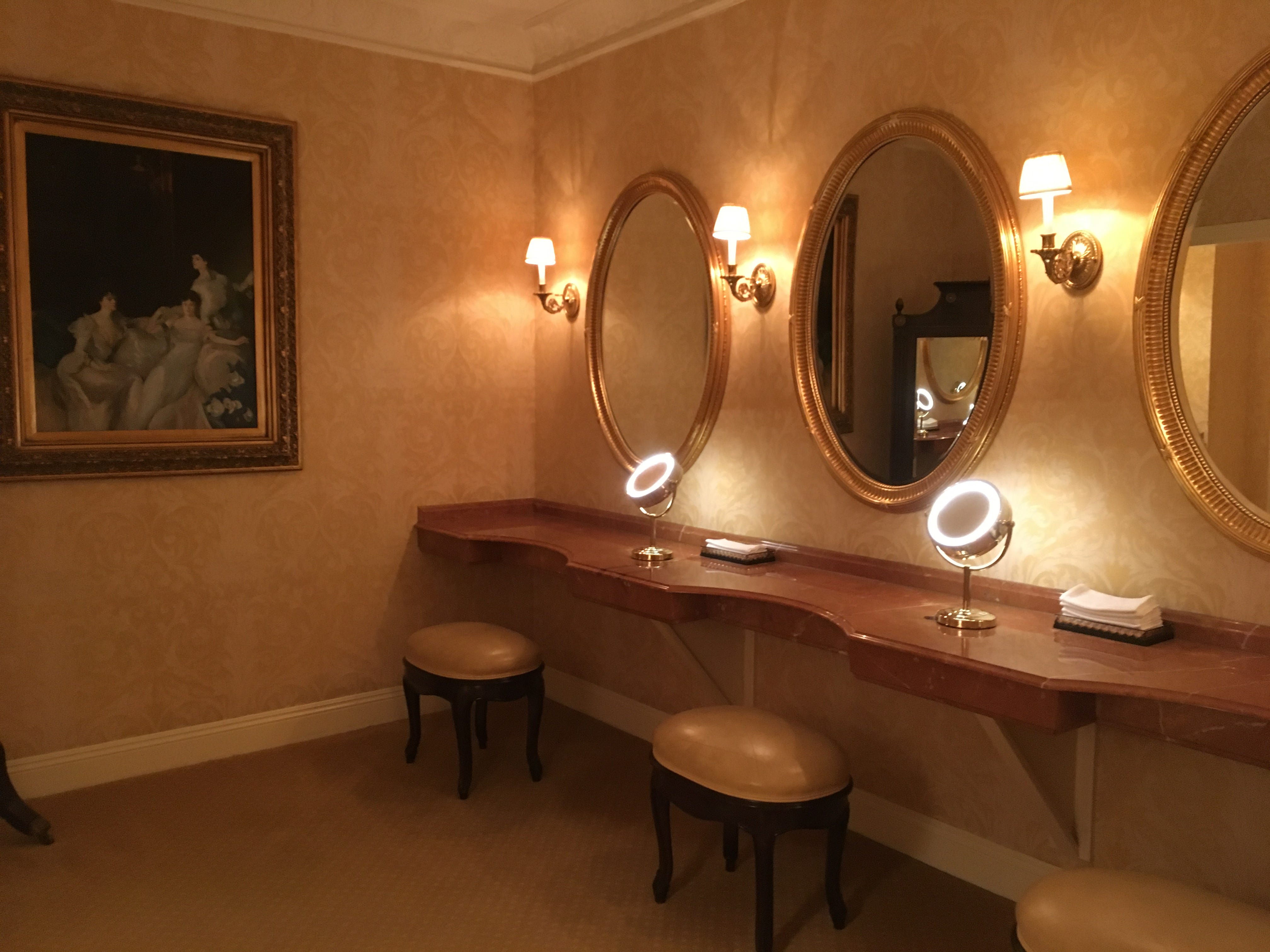Though it doesn't get the same attention as the men's room, the women's restroom at the Hermitage Hotel downtown also has style