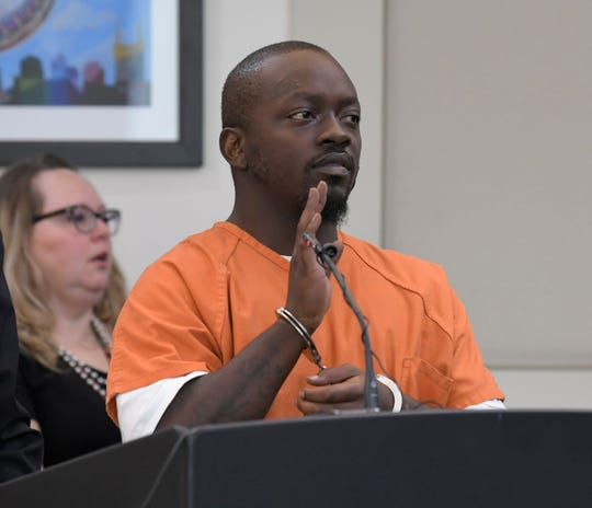 Horace Williamson III, 27, was arraigned in a Nashville courtroom on Thursday, Oct. 4, 2018 on charges regarding a double shooting at the Cobra bar this summer in Nashville.