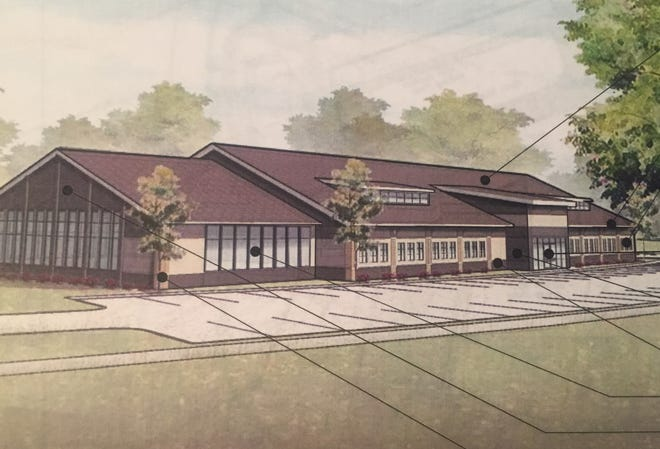 A sketch of the proposed, 19,500-square foot orthopedic and rehabilitation center before Granville council. A public hearing is planned Oct. 17.