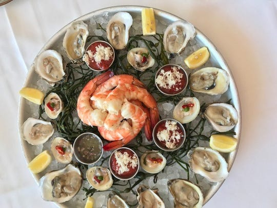 A platter from The Oyster Bar at Jockey Hollow Kitchen & Bar