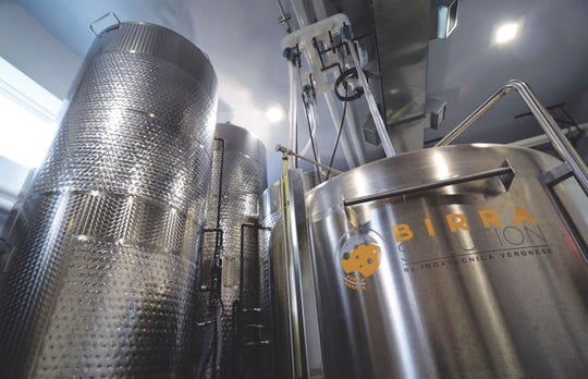 The cider is produced in fermenters and cold tanks.