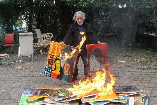 Burning Paintings 1