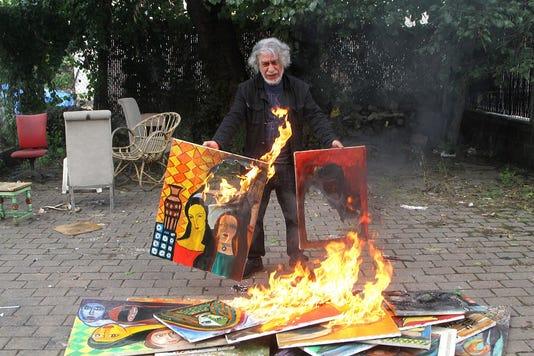 Burning Paintings 1