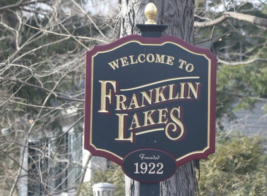 The Welcome To Franklin Lakes Sign On Franklin Ave Coming From Wyckoff