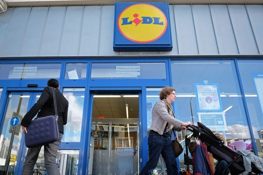 Lidl discount supermarket in the Balham district of London, October 2014.