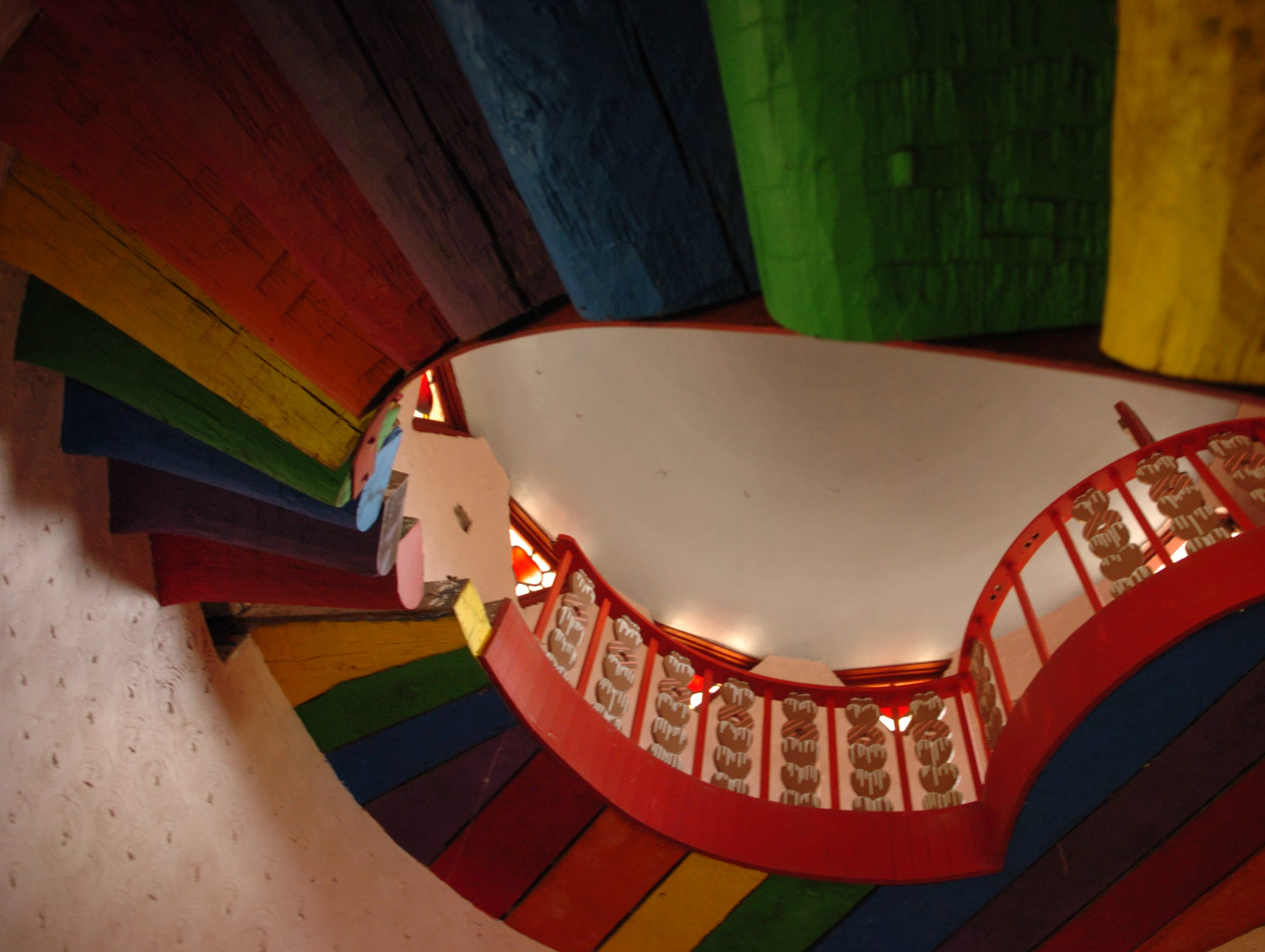 2007: A rainbow of stairs takes you to the top of the historic Gingerbread Castle in Hamburg.