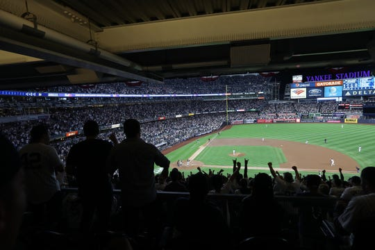 The Yankees gave their fans something to cheer about in the first inning when they took a 2-0 lead. Wednesday, October 3, 2018